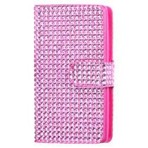 Funda Cartera Nokia 521 Lumia Rosa/gomas/brillosas