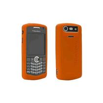 Oem Blackberry 8120, 8130, 8110 Gel Piel Case, Luz Naranja