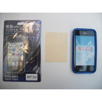 Kit 3x1 Tpu+ Mica+ Paño Iphone 3gs!