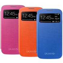Funda Galaxy S4 S View Flip Accesorios Mica+pluma Gratis