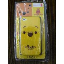Iphone 4 Case Plástico Rígido + Mica Winnie The Pooh Japón