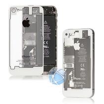 Tapa De Bateria Negro O Blanco Transparente Iphone 4/4s
