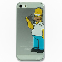 Funda Homero Manzana Case Apple Transparente Iphone 4s 5 5s