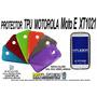 Protector Silicon Tpu Motorola Moto E Xt1021 + Mica Gratis