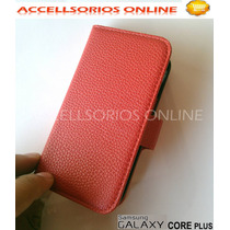 Funda Flip Cover Cartera Samsung Galaxy Core Plus G350 Roja