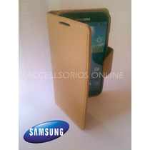Funda Cartera Flip Cover Samsung Galaxy S4 Cafe Barata !!!!!