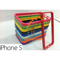 Funda Bumper Apple Iphone 5 De Colores + Micas Protectoras