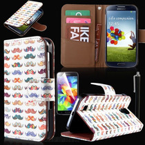 Funda En Piel Samsung Galaxy S5 I9600 + Mica Stylus Ysoporte