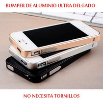 Bumper Aluminio Ultra Delgado 0.7mm Iphone 4/4s + Mica Doble