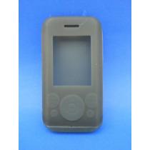 Silicon Skin Case Para Sony Ericsson W580 Color Gris