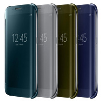 Funda Galaxy S6 Edge S View Flip Cover Clear 100% Original