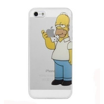 Funda Crystal Case Homero Simpsons Para Iphone 6 Y 6 Plus