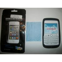 Kit 3x1 Silicon+ Mica+ Paño Blackberry Bold 6 9790!!!