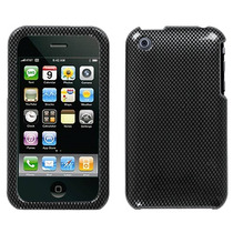 Protector Funda Iphone Apple 3g Negro Carbon