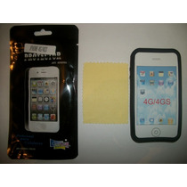 Kit 3x1 Silicon+ Mica+ Paño Iphone 4g!!!
