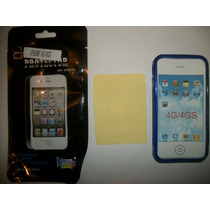 Kit 3x1 Tpu+ Mica+ Paño Iphone 4g!!!