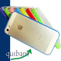 Iphone 5g Bumper Con Respaldo Funda Transparente Colores