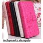 Alcatel Pop C5 0t 5036 Cartera Fashion Piel+ Mica +envio*