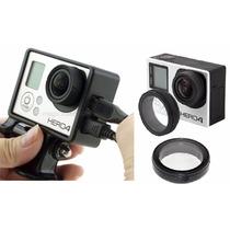Gopro Kit Frame Y Cubre Lente Adaptador Accesorios Go Pro