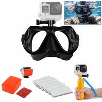 Kit Buceo Snorkel + Bobber Gopro Visor Mascara Scuba Go Pro