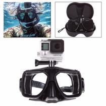 Mascara Buceo Gopro Visor Snorkel Scuba Go Pro Aadaptador