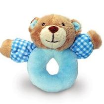 Suave Traqueteo Del Bebé - Azul Babys 1st Oso O Un Perrito