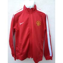 Manchester United Chamarra Roja Logo Bordado, Envio Gratis!!