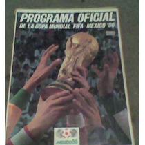 Programa Oficial Mexico 86 Futbol