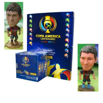 Combo Caja Sobres, Album Copa America Panini 2016 Y Muñeco