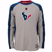 Camisa Con Mangas Nfl Texanos Talla M Youth Para Niño