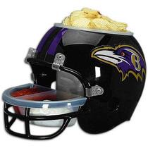 Casco Nfl Baltimore Ravens Cuervos Botana Cerveza