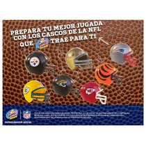 Mini Cascos Nfl Marinela Cerrados Empaque Original