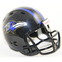 Casco Nfl Pocket Revolution Y Banderin Nfl Baltimore Ravens