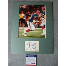 Foto Autografiada Por Thurman Thomas Con Coa Psa Bills