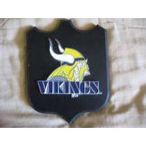 Cuadro Decorativo De Madera Logo Pewter Vikings