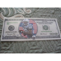 $100 Play Money Detailed Marvin Harrison