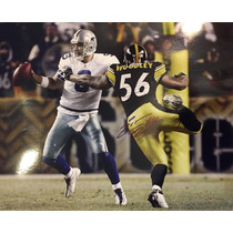 Enorme Foto Autografiada Lamarr Woddley Steelers Tony Romo