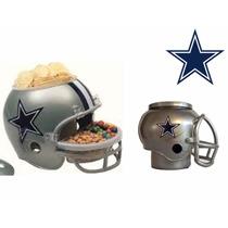 Casco Nfl Dallas Cowboys Vaqueros Combo Botanero Y Cervecero