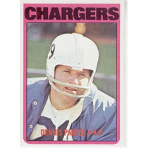 1972 Topps Dennis Partee San Diego Chargers