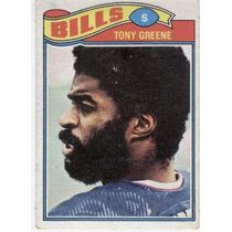 1977 Topps Mexican Tony Greene Bills De Buffalo