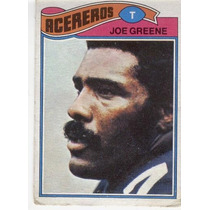 1977 Topps Mexican Joe Greene Acereros De Pittsburgh