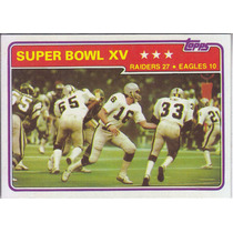 1981 Topps Super Bowl Xv Raiders Eagles