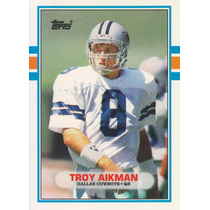 1989 Topps Traded Rookie Troy Aikman Qb Dallas Cowboys
