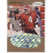1999 Sage Bronze Autografo Champ Bailey Rc Broncos 196/650