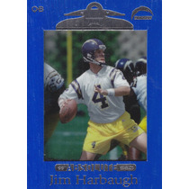 1999 Absolute Ssd Blue Jim Harbaugh Qb Chargers