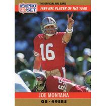 1990 Pro Set Nfl Player Of The Year Joe Montana 49ers