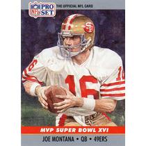 1990 Pro Set Mvp Super Bowl X V I Joe Montana 49ers