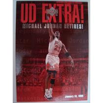 Card Michael Jordan Upper U D Extra 1999 Cod. 4006