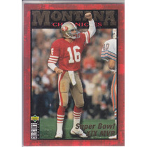 1995 Ud Collectors Choice Montana Chronicles Qb 49ers