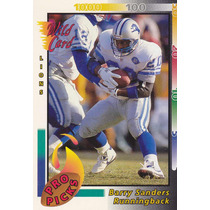 1992 Wild Card Pro Picks Barry Sanders Rb Lions